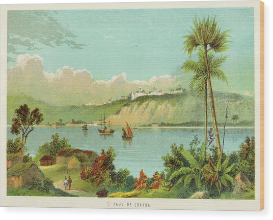 Luanda (sao Paolo De Loanda)  General Wood Print by Mary Evans Picture Library