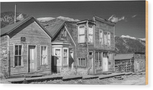 Main Street St Elmo Colorado Wood Print