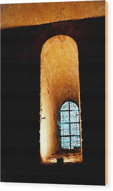 Meditation - Deep Window Mont St Michel Wood Print by Jacqueline M Lewis