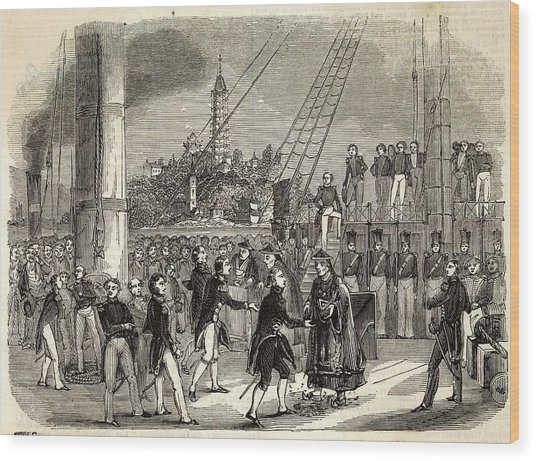 Meeting Between British And  Chinese Wood Print by  Illustrated London News Ltd/Mar
