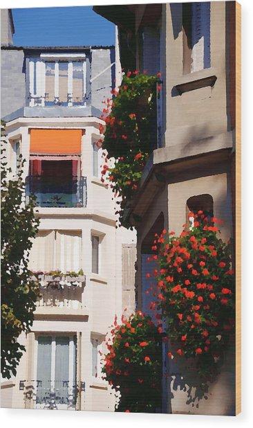 Montmartre Apartment Wood Print by Jacqueline M Lewis