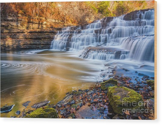 Morning Light Upper Burgess Falls Wood Print