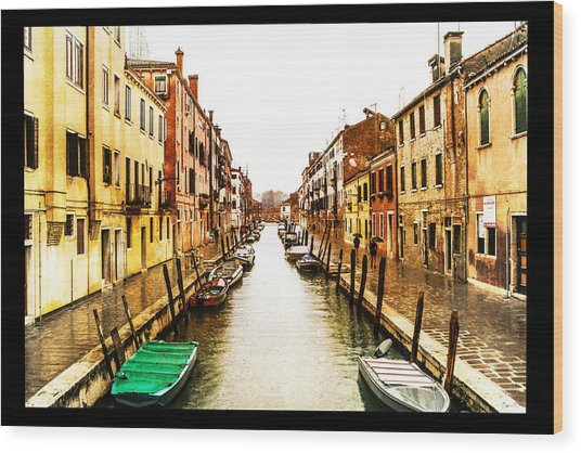 Old Venice Wood Print by Steven  Taylor
