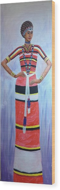 Oromo Lady Wood Print