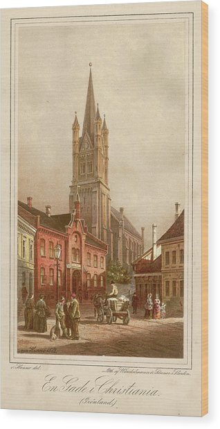 Oslo (formerly Christiania)  Street Wood Print by Mary Evans Picture Library