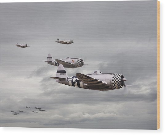 P47 Thunderbolt  Top Cover Wood Print