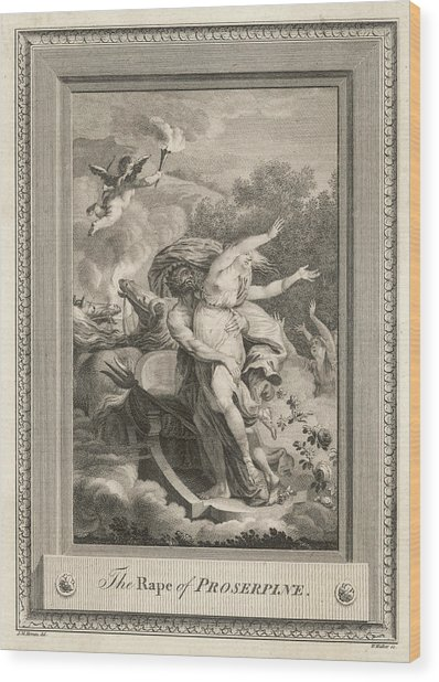 Persephone Is Abducted By  Hades Wood Print