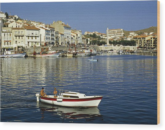 Port Vendres Harbour France 1980s Wood Print by David Davies