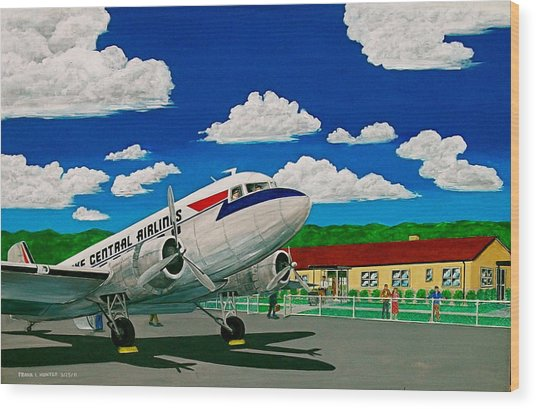 Portsmouth Ohio Airport And Lake Central Airlines Wood Print
