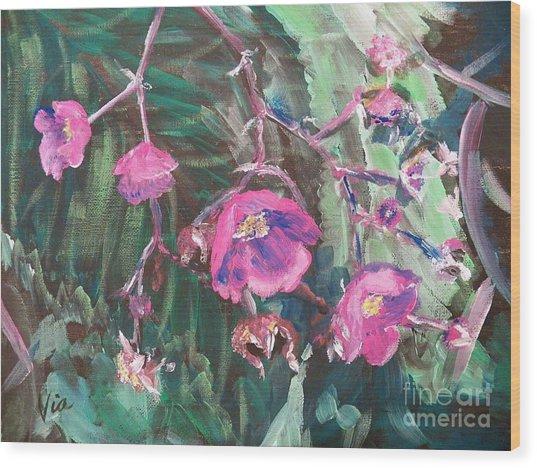 Ptg  Adirondack Wildflower Wood Print