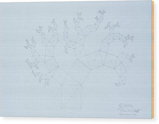 Quantum Tree Wood Print