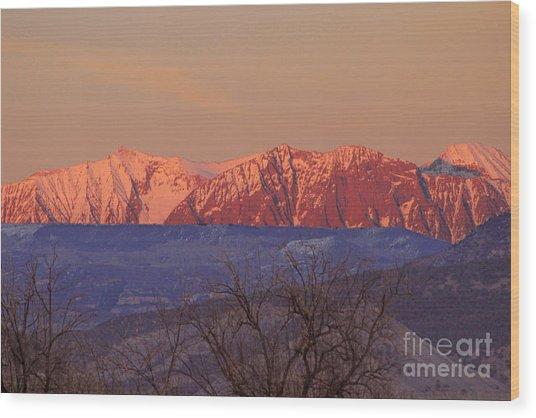 Radiant Ragged Mountain Evening Co II Wood Print