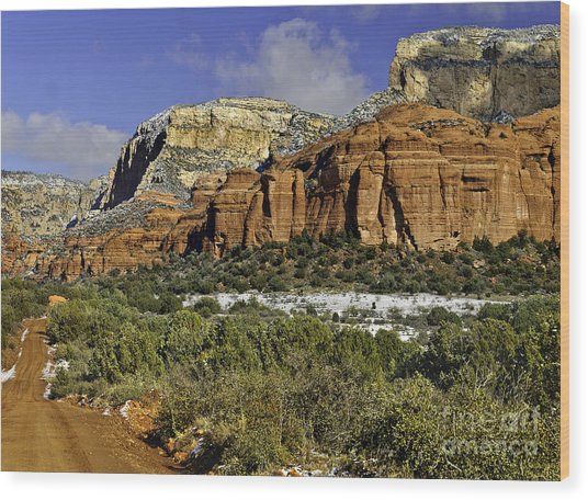 Red Rock-secret Mountain Wilderness Wood Print