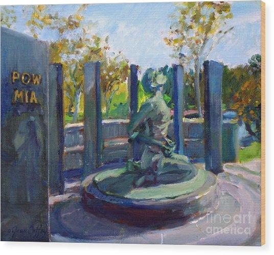 Riverside National Cemetery Pow Mia Memorial Wood Print