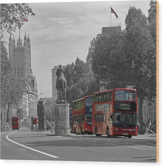 Routemaster London Buses Wood Print