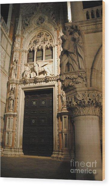 Saint Mark And Lion  Wood Print by Jacqueline M Lewis