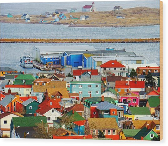 Saint Pierre Et Miquelon Wood Print