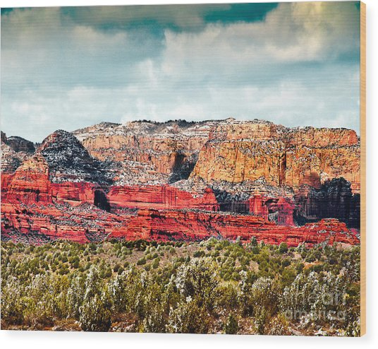 Secret Mountain Wilderness Sedona Arizona Wood Print