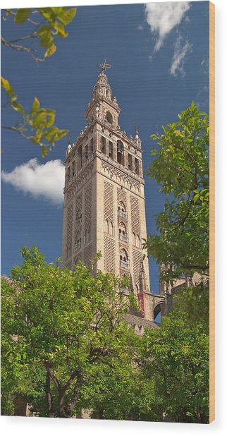 Seville Cathedral Belltower Wood Print by Viacheslav Savitskiy