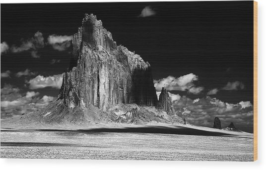 90116 Shiprock East Face Wood Print