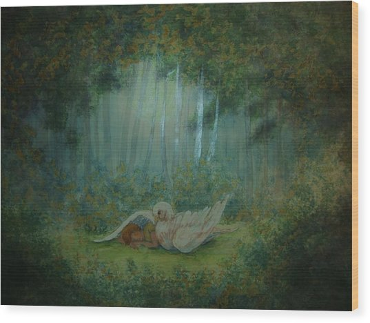 Spiritual  Transition -wings Of Joy Wood Print