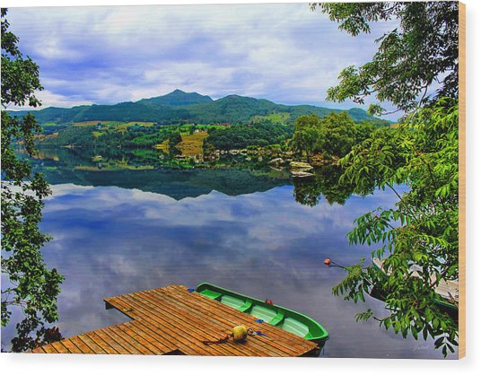 Stunning Mirror Lake By Julia Fine Art Wood Print