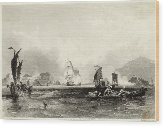 The British Fleet Forces A  Passage Wood Print by Mary Evans Picture Library