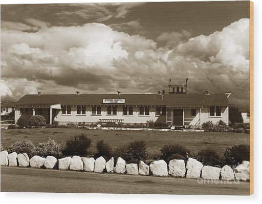 The Fort Ord Station Hospital Administration Building T-3010 Building Fort Ord Army Base Circa 1950 Wood Print
