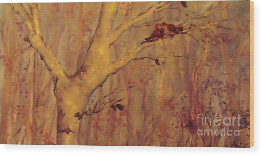 The  Loving  Birds Wood Print