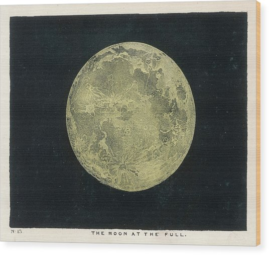 The Moon At The Full Wood Print
