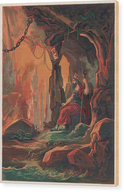 The Ruler Of The Underworld Wood Print by Mary Evans Picture Library