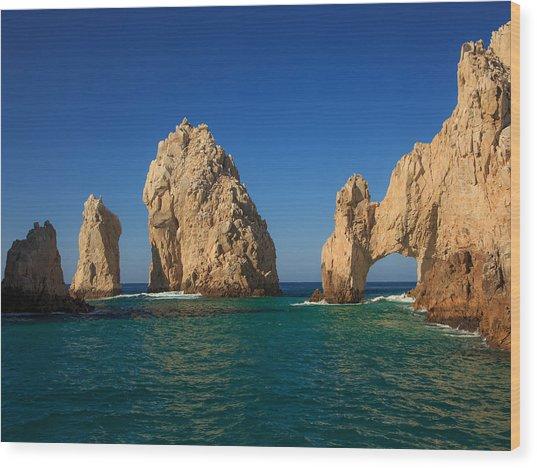 The Sea Arch El Arco De Cabo San Lucas Wood Print