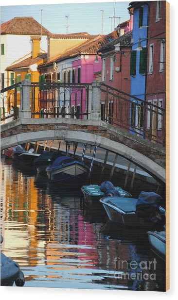 Torcello Color Two Wood Print by Jacqueline M Lewis