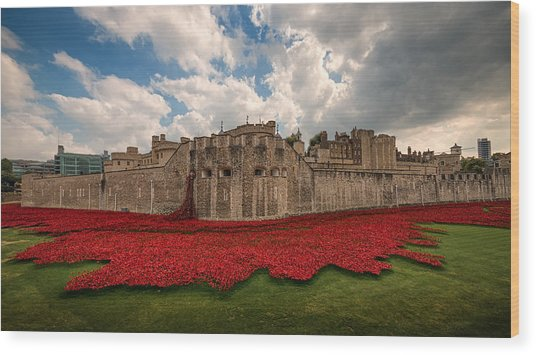 Tower Of London Remembers.  Wood Print