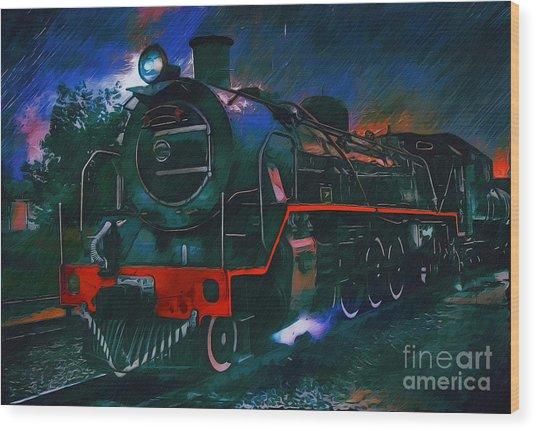 Train Wood Print by Andrzej Szczerski
