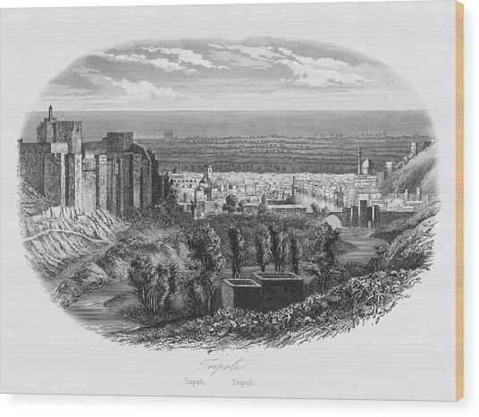 Tripoli  General View        Date 1846 Wood Print