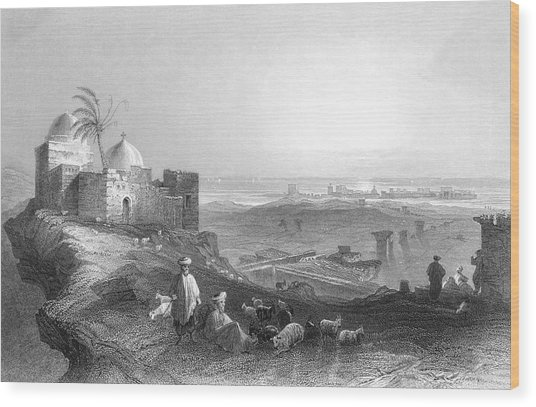 Tyre  General View From The Mainland Wood Print