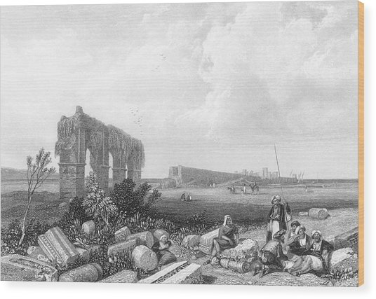 Tyre  The Ruins        Date Circa 1835 Wood Print