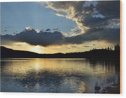 Unnamed Sunrise  I Wood Print by Rich Rauenzahn