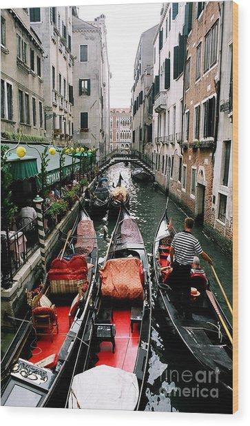 Venice Canal Wood Print by Sandy MacNeil
