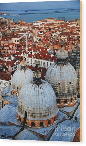 Venice In Glory - Vertical Wood Print by Jacqueline M Lewis