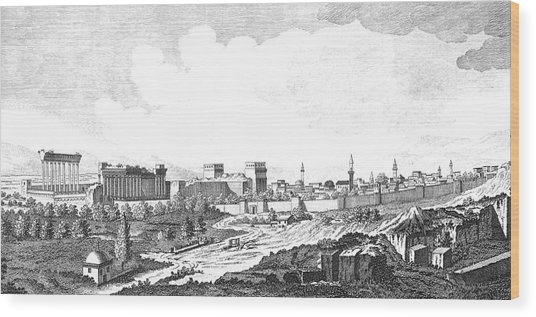 Viewed From The South         Date 1768 Wood Print