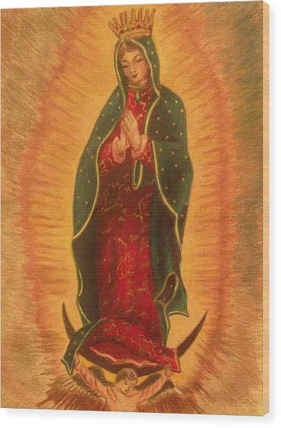 Virgen  De  Guadalupe Wood Print