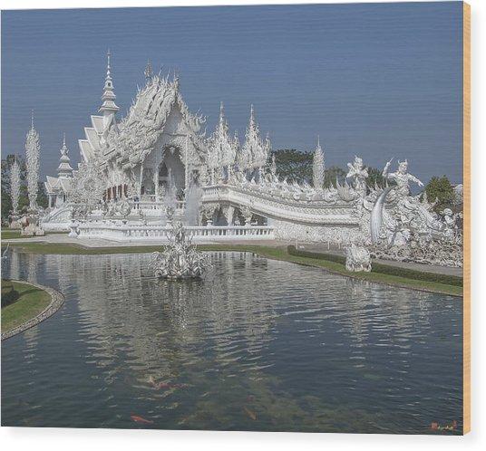 Wat Rong Khun Ubosot Dthcr0001 Wood Print
