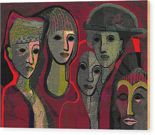 006   Women Or Masks ...  Wood Print