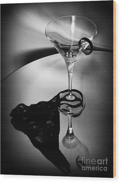 Martini Glass Charm Wood Print