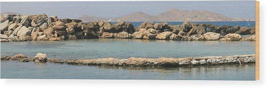 0084236 - Paros - Naousa Wood Print by Costas Aggelakis
