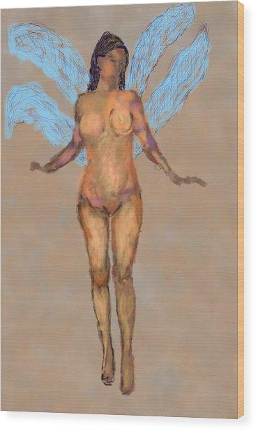 010715 Pastel Digital Fairy Wood Print