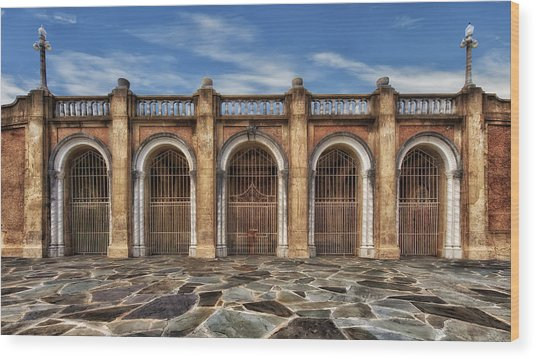Five Gated Arches - Lakeland Florida Wood Print