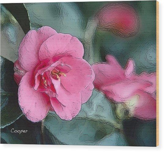 012 Pink Crystal Wood Print